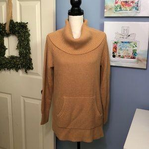 Michael Kors tan cowlneck sweater NWT